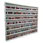 Expositor De Esmaltes C/barra De Alumínio P/250 Á 500 esmaltes 100X83X6