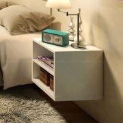 Mesa de cabeceira Suspenso 40x30x35 Cm 100% Mdf 15mm Branco