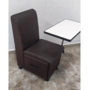 Cirandinha Cadeira P/manicure COM GAVETA FACTOR Marrom