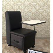 Cirandinha Cadeira P/manicure Preta Factor COM GAVETA