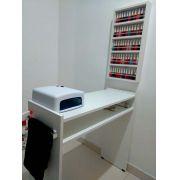KIT Manicure Mesa 60cm+expositor de esmaltes c/barra de aluminio