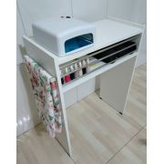 Mesa P/Manicure C/Alças cromadas p/ toalhas c/ 3 barras de aluminio
