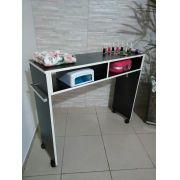 Mesa P/ Manicure De 1 Metro Mdf PRETO Com RODINHAS