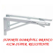 Suporte de parede  Dobravel Branco 40cm (o Par) P/ Mesas,prateleiras e bancadas