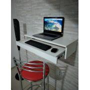 Suporte suspenso para monitor,com gaveta para teclado e mouse