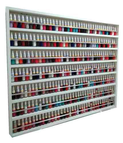 Expositor De Esmaltes C/barra De Alumínio P/250 Á 500 esmaltes 100X83X6  - Virtude Móveis