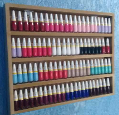 Expositor De Esmaltes P/até 80 Esmaltes 47x47x6 Mdf Cru  - Virtude Móveis