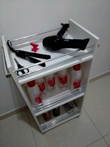 Carrinho Auxiliar ALUMÍNIO P/ Cabeleireiro Ou Manicure Alça P/toalha  - Virtude Móveis