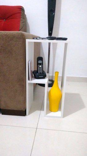 Mesa de cabeceira Moderno/ Mesinha Lateral Ou De Canto 30x60x25  - Virtude Móveis
