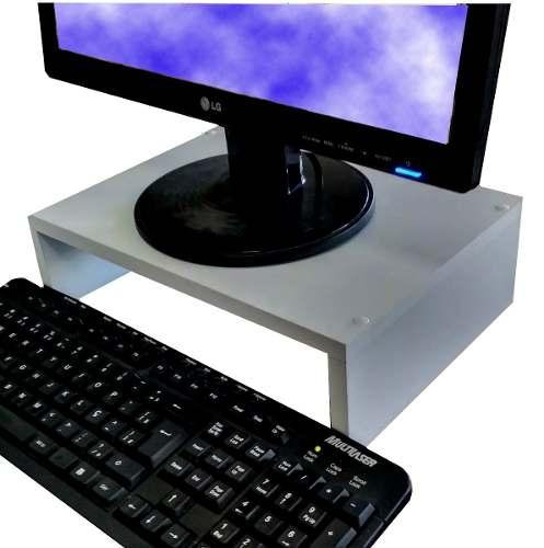Suporte Base P/ Monitor/computador em MDF 60x10x25  - Virtude Móveis