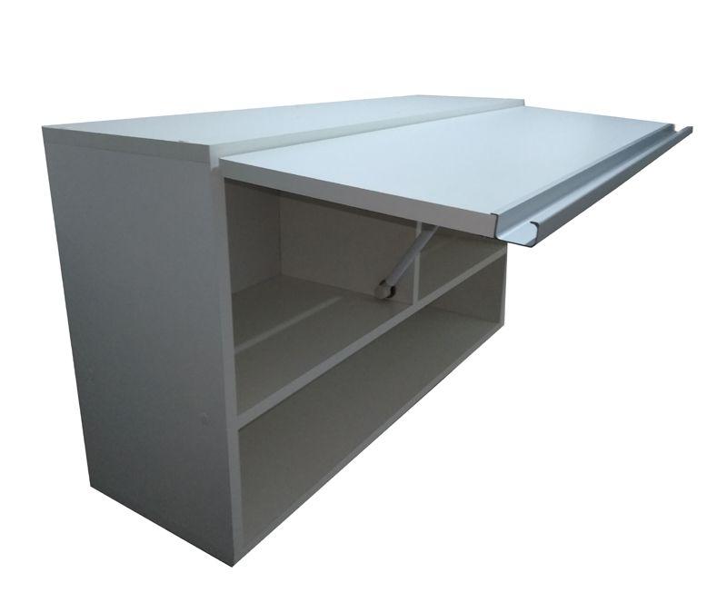 Armário Aéreo C/ Porta 80cm puxador aluminio 100%mdf P/ Cozinha nicho  - Virtude Móveis
