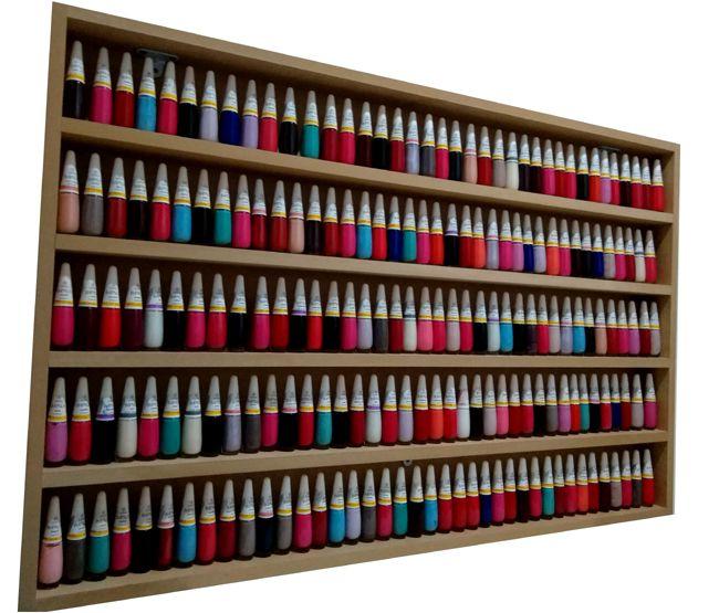 Expositor De Esmaltes -94Lx60Ax6P P/ Manicure-MDF CRU  - Virtude Móveis