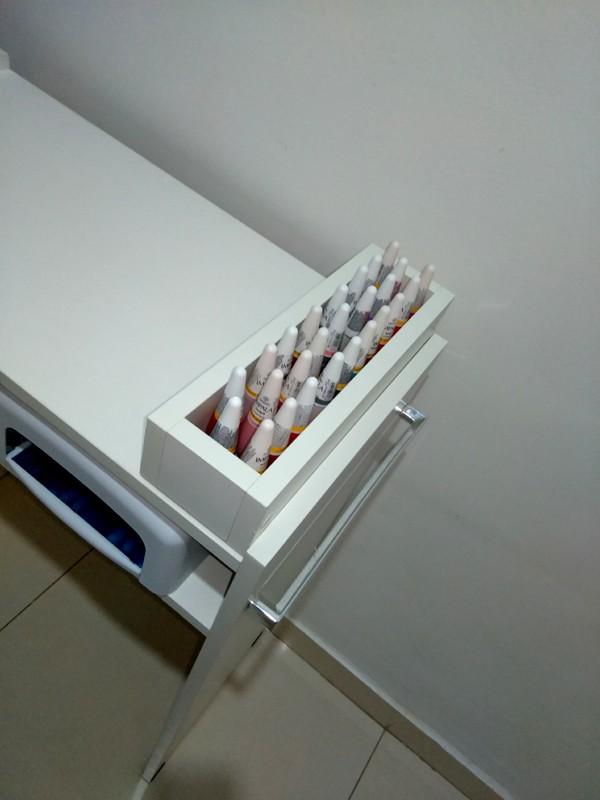 KIT Mesa P/ Manicure+expositor+compartimento de esmaltes  - Virtude Móveis
