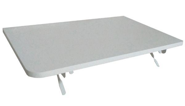 Mesa De Parede Dobrável 60x41 Suporte Branco Canto arredondados  - Virtude Móveis