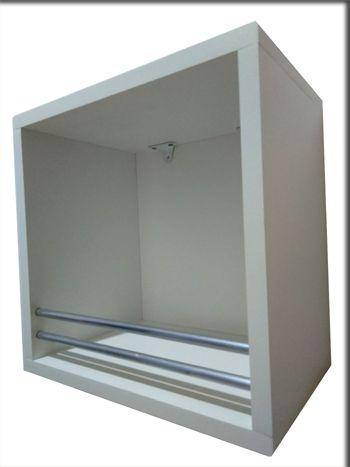 Nicho 30x30x20 Cm-100%mdf 15mm Branco C/BARRA ALUMINIO  - Virtude Móveis