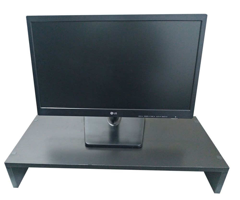 Suporte Base P/ Monitor/computador em MDF PRETO 60CM  - Virtude Móveis