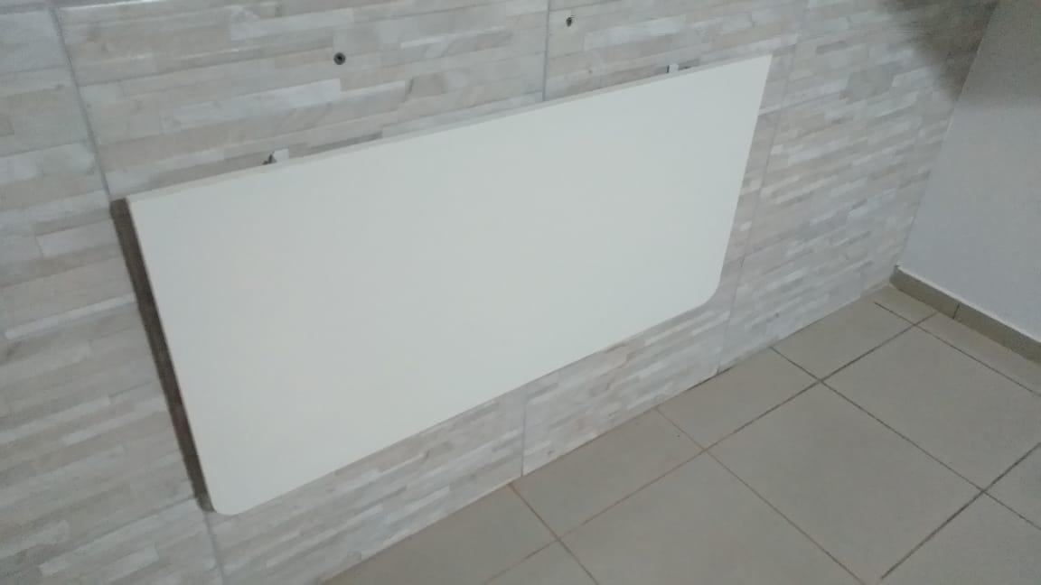 Suporte de parede  Dobravel Branco 40cm (o Par) P/ Mesas,prateleiras e bancadas  - Virtude Móveis
