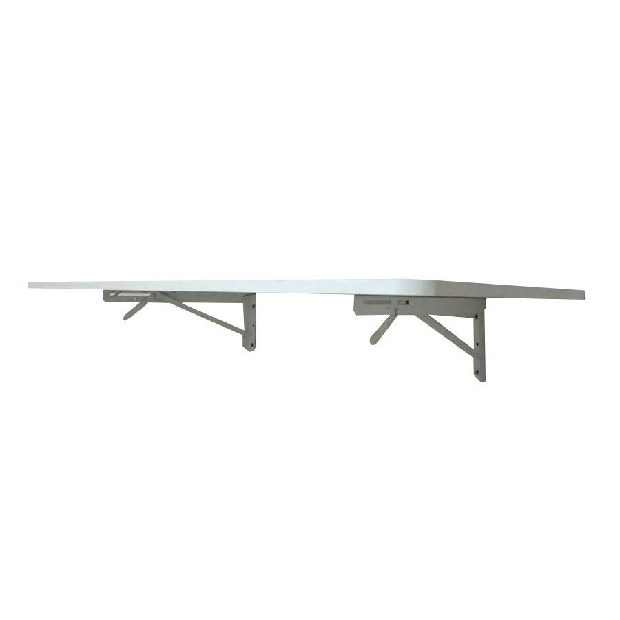 Suporte Dobrável Branco 50cm (o Par) P/ Mesas,bancadas  - Virtude Móveis