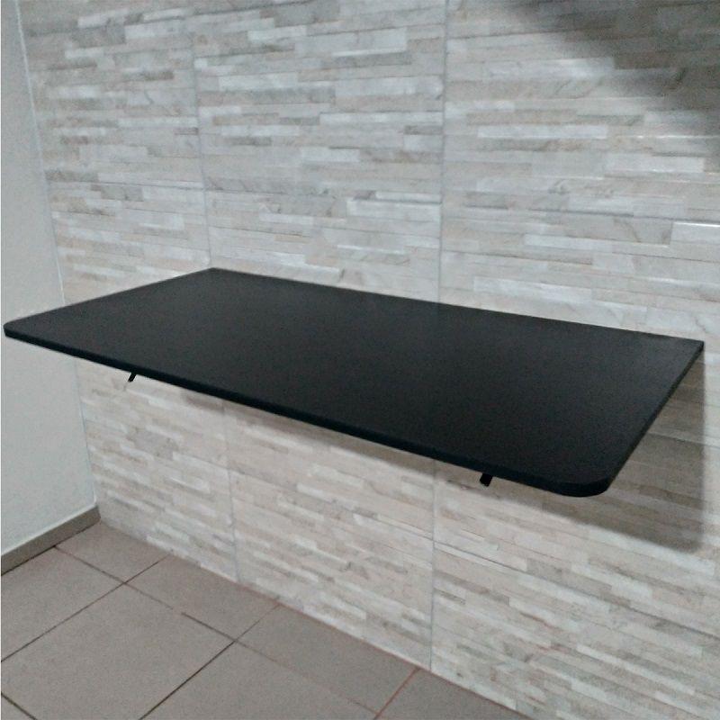 Suporte Dobrável PRETO 40cm- Par- P/ Mesas,prateleiras E Bancadas  - Virtude Móveis