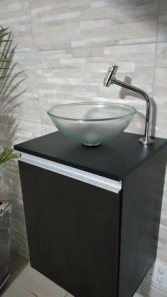 Torneira Cromada P/lavatório Banheiro Bica Alta 45° 1/4volta  - Virtude Móveis