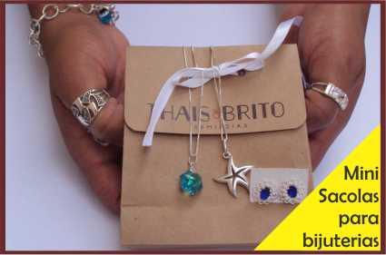 Sacolas para bijuterias e joias
