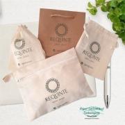 Kit de sacolas para bijus e acessórios ou maquiagem