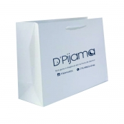 Sacola de papel kraft cor branca (33x33x12 cm) personalizada - 100 unidades