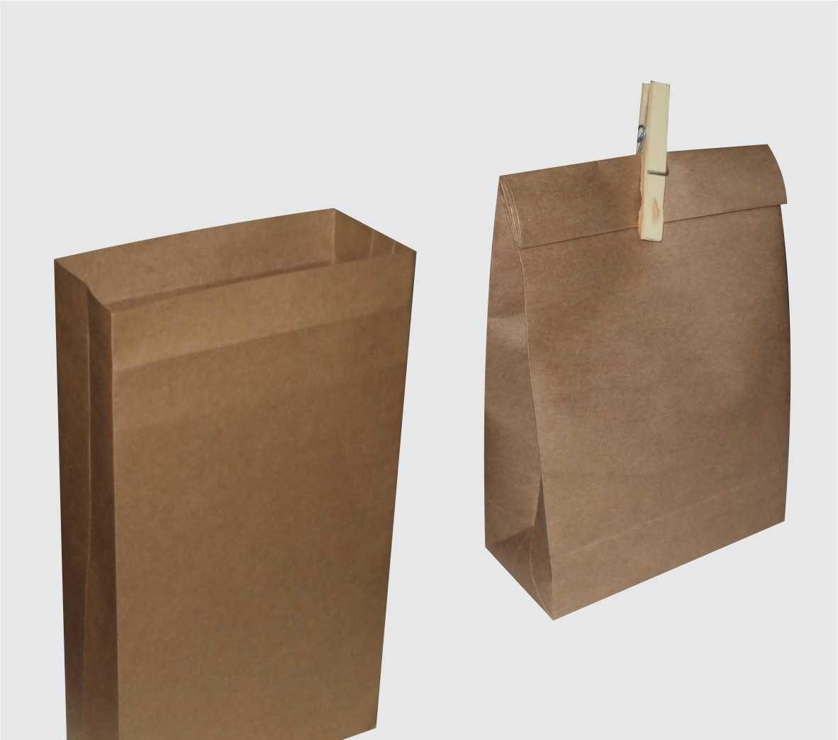 Saco kraft medio (18x29x8 cm) - cor parda - 10 unidades
