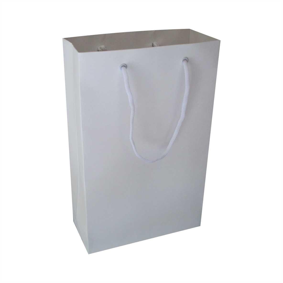Sacola branca media (18x29x8 cm) - 10 unidades