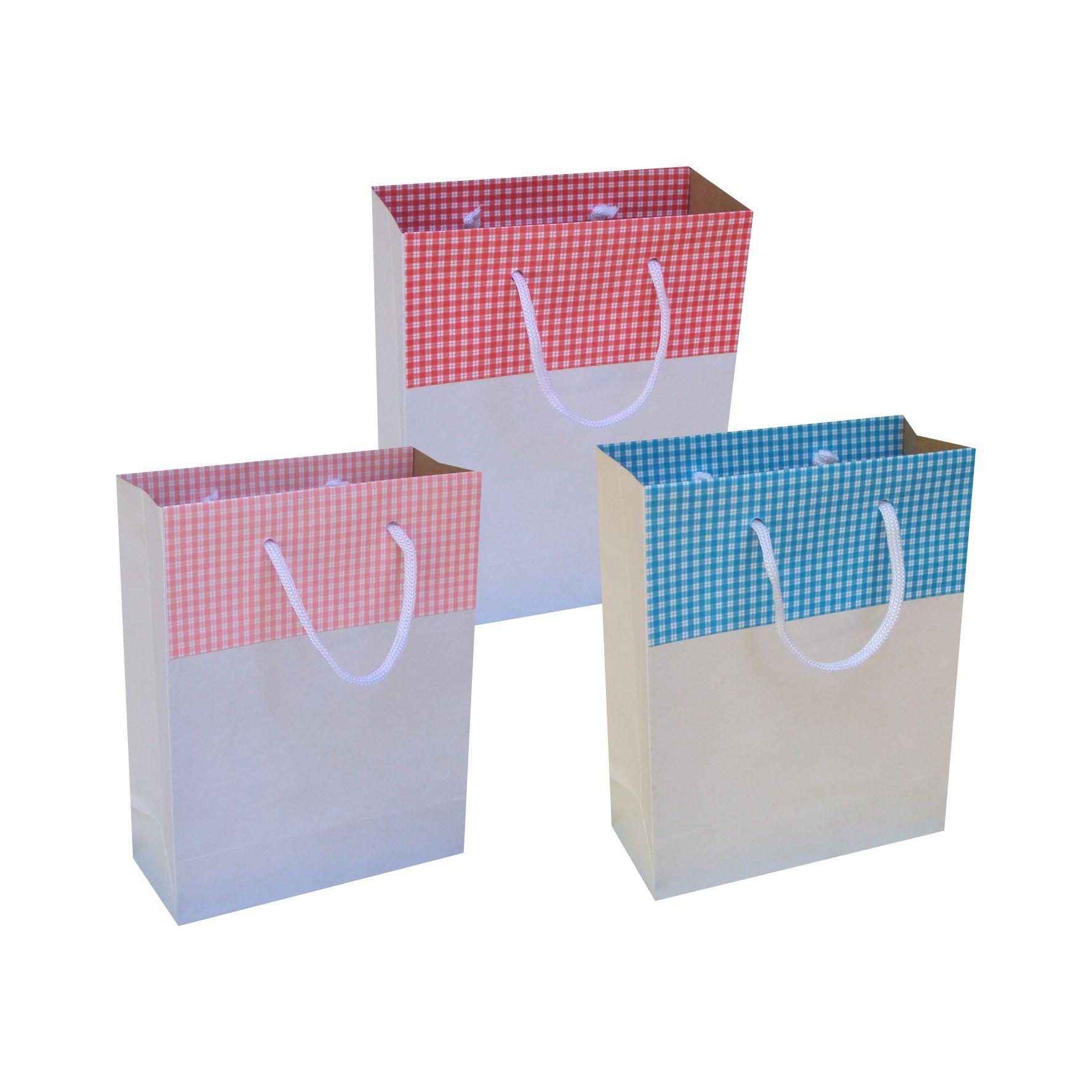 Sacola de papel kraft - cor branca tamanho  -15x19x6,5 cm - 10 unidades