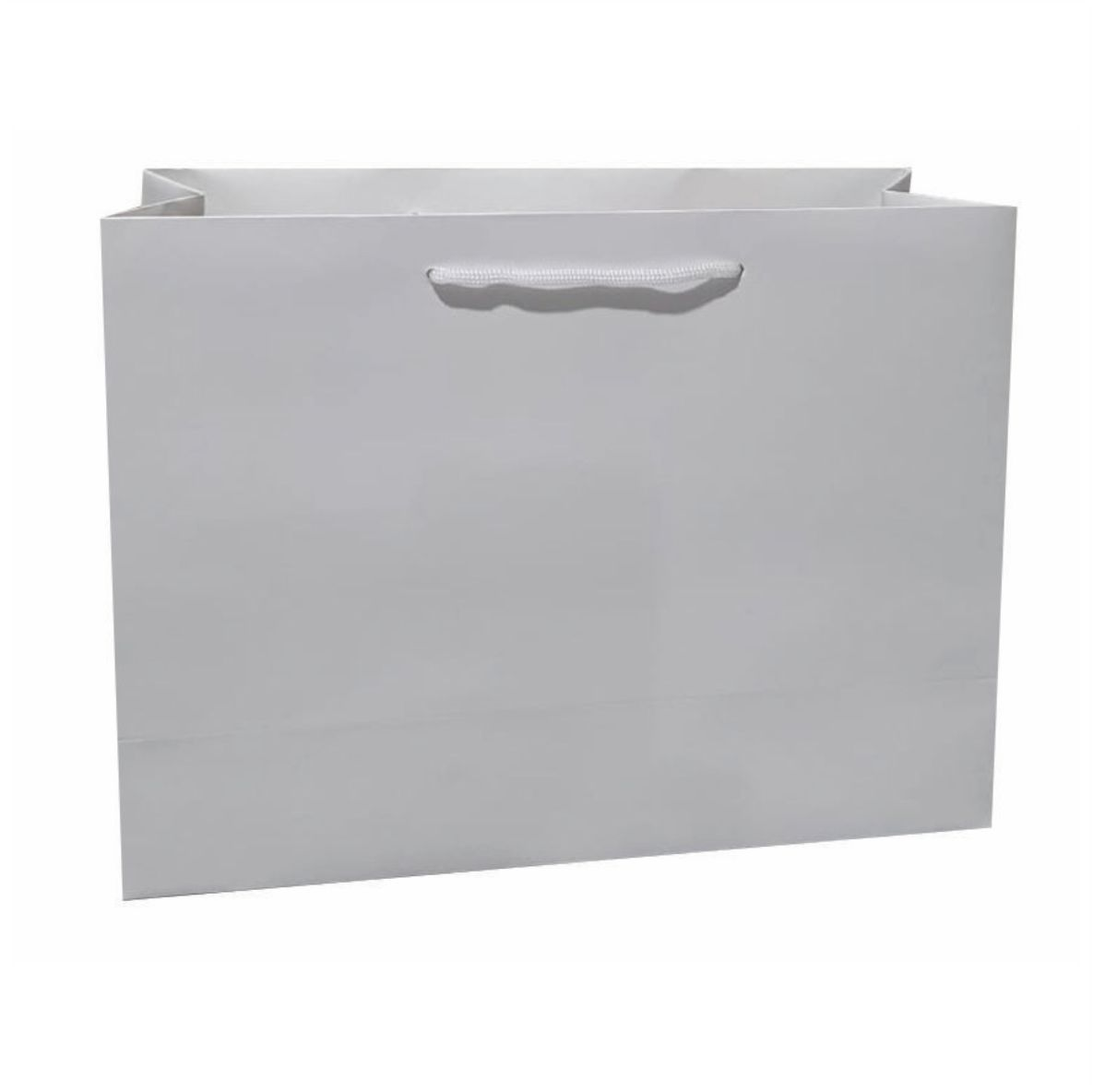 Sacola de papel kraft M - cor branca tamanho  -35x28x12 cm - 10 unidades