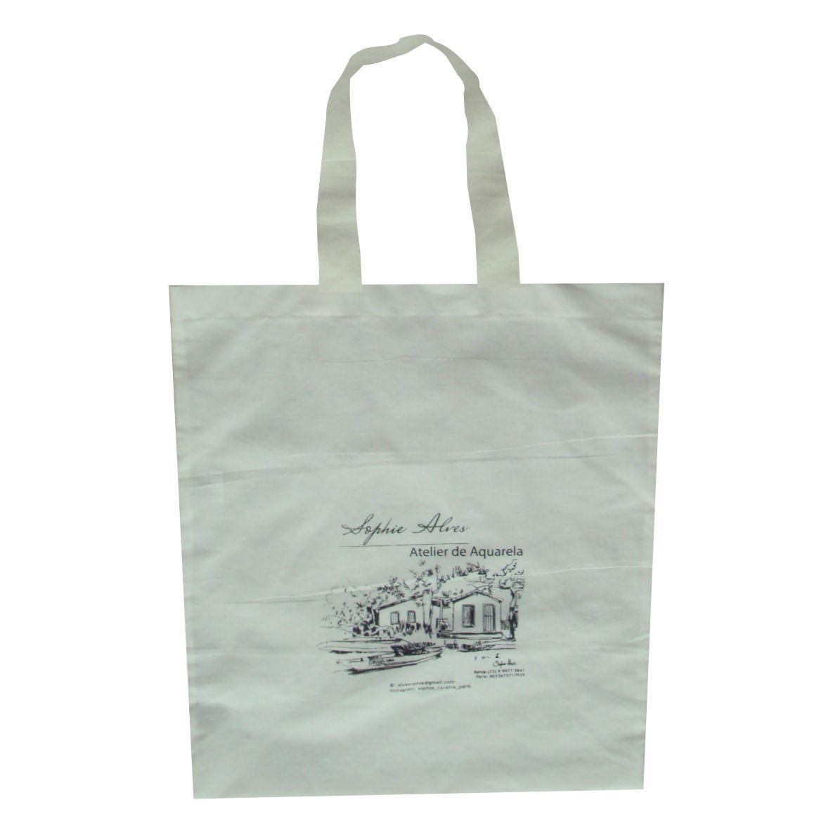 Sacola Eco Bag de algodão cru - 100 unid