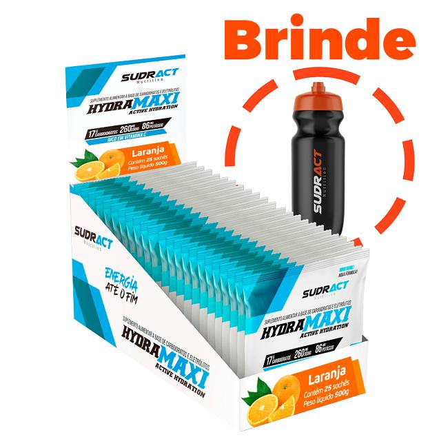 Isotônico em Pó Hydramaxi 25 sachês + 1 Squeeze de Brinde - Sudract Nutrition