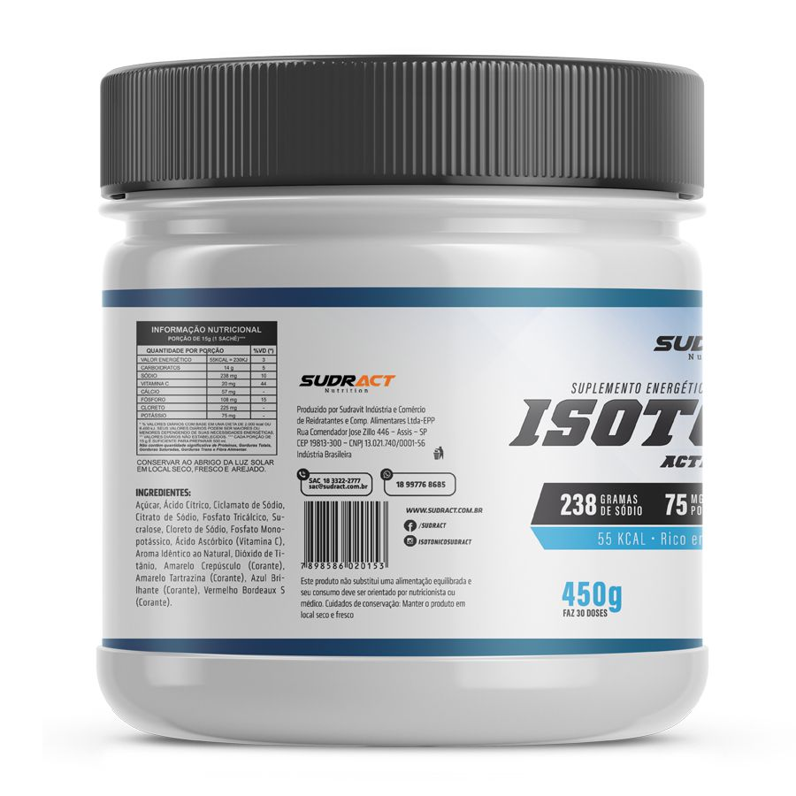 Isotônico em Pó Isotonic 450g - Sudract Nutrition