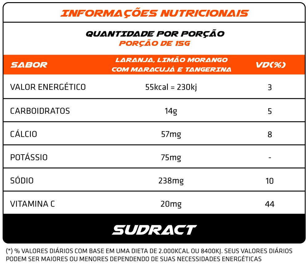 Isotônico em Pó Isotonic 300g - Sudract Nutrition