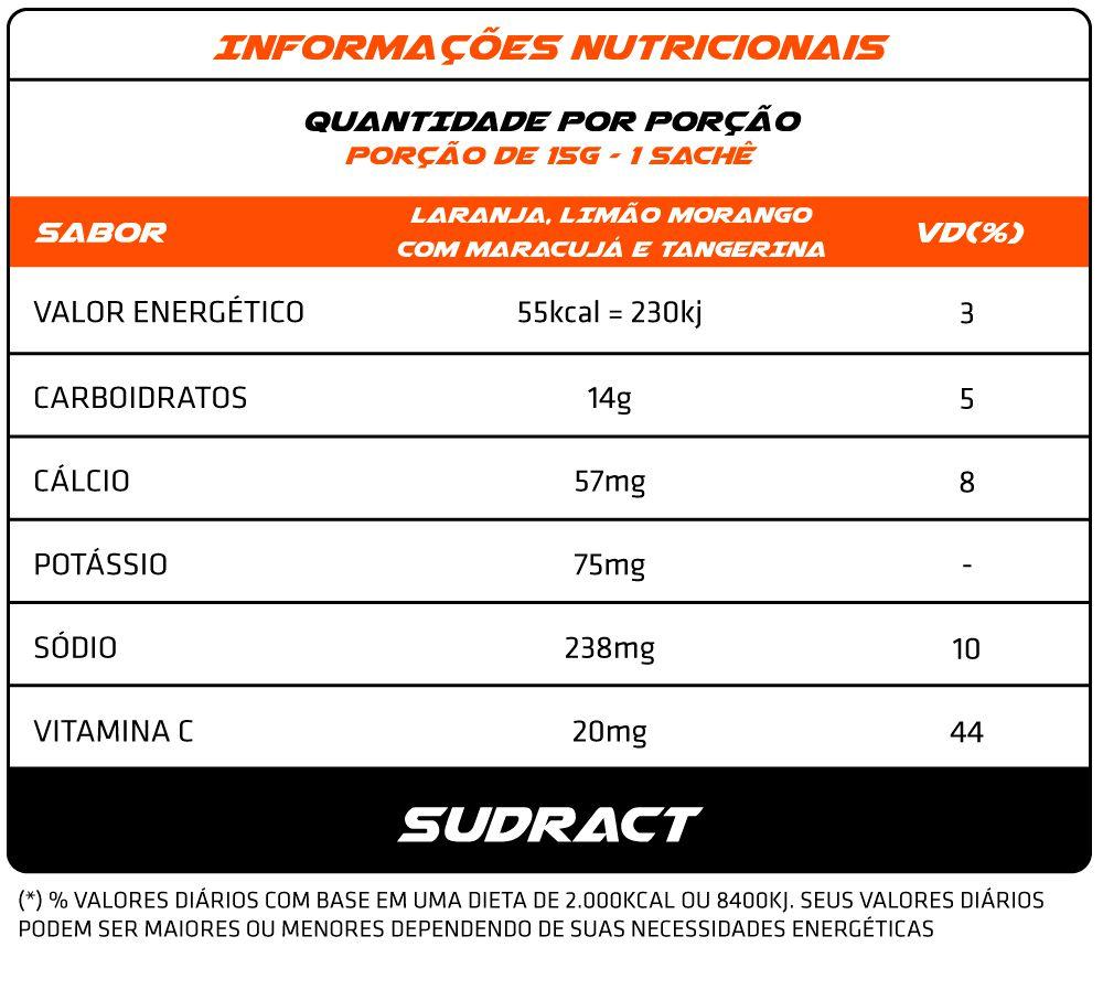 Isotônico em Pó Isotonic 30 sachês de 15g - Sudract Nutrition