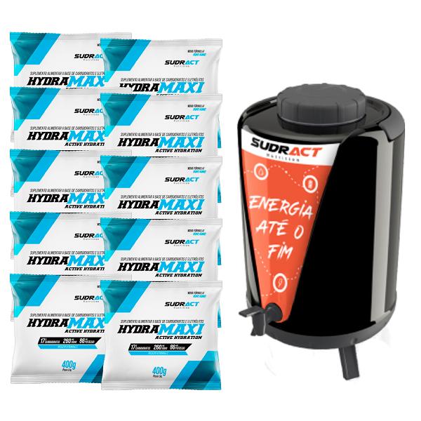 Kit 10 Hydramaxi Sachê 400g + Garrafa Térmica 10 Litros - Sudract Nutrition