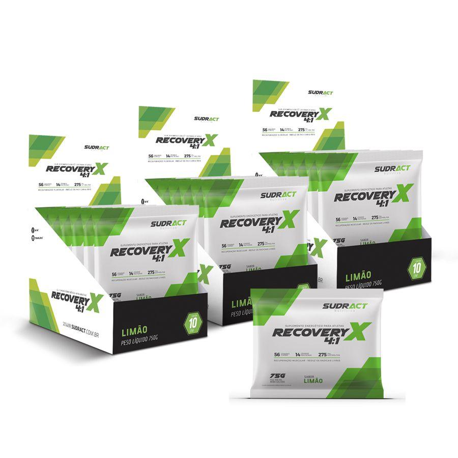 Kit 3 display de Recovery X 4:1 10 sachês de 75g - Sudract Nutrition