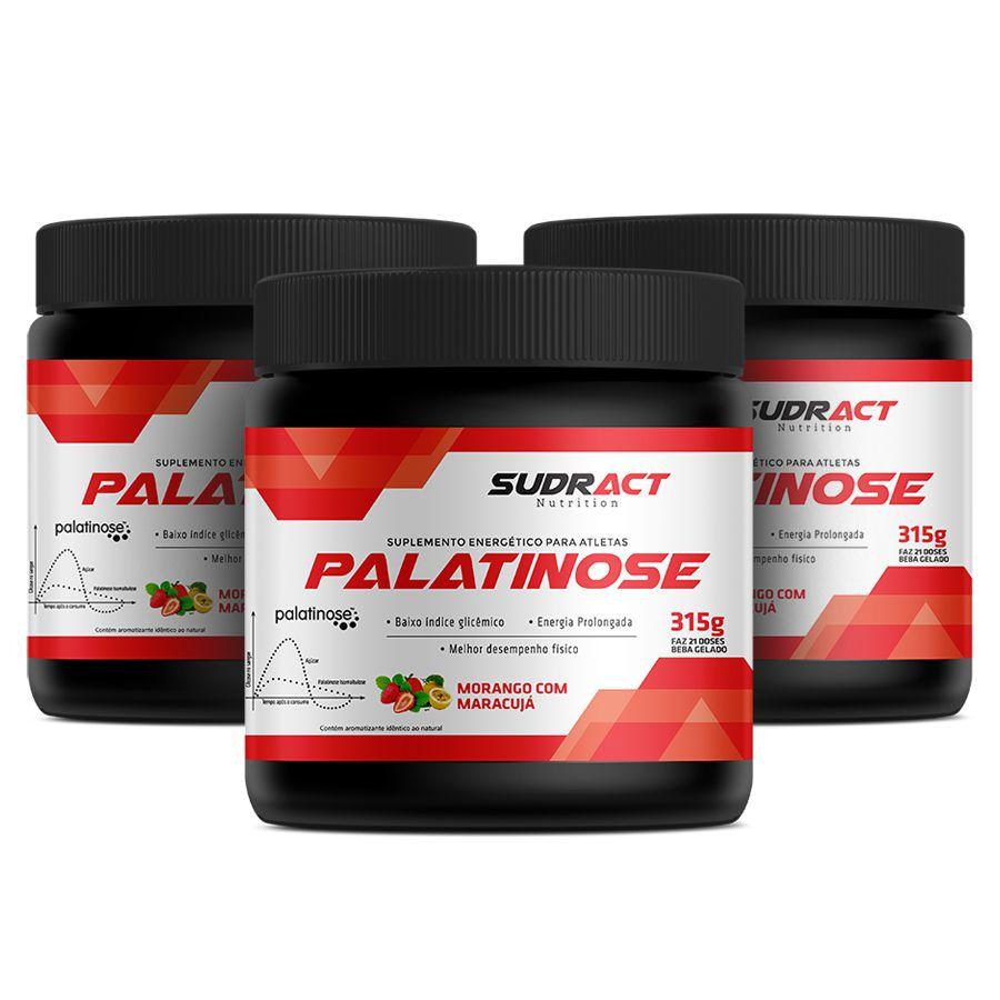 Kit 3 potes de Palatinose 315g - Sudract Nutrition
