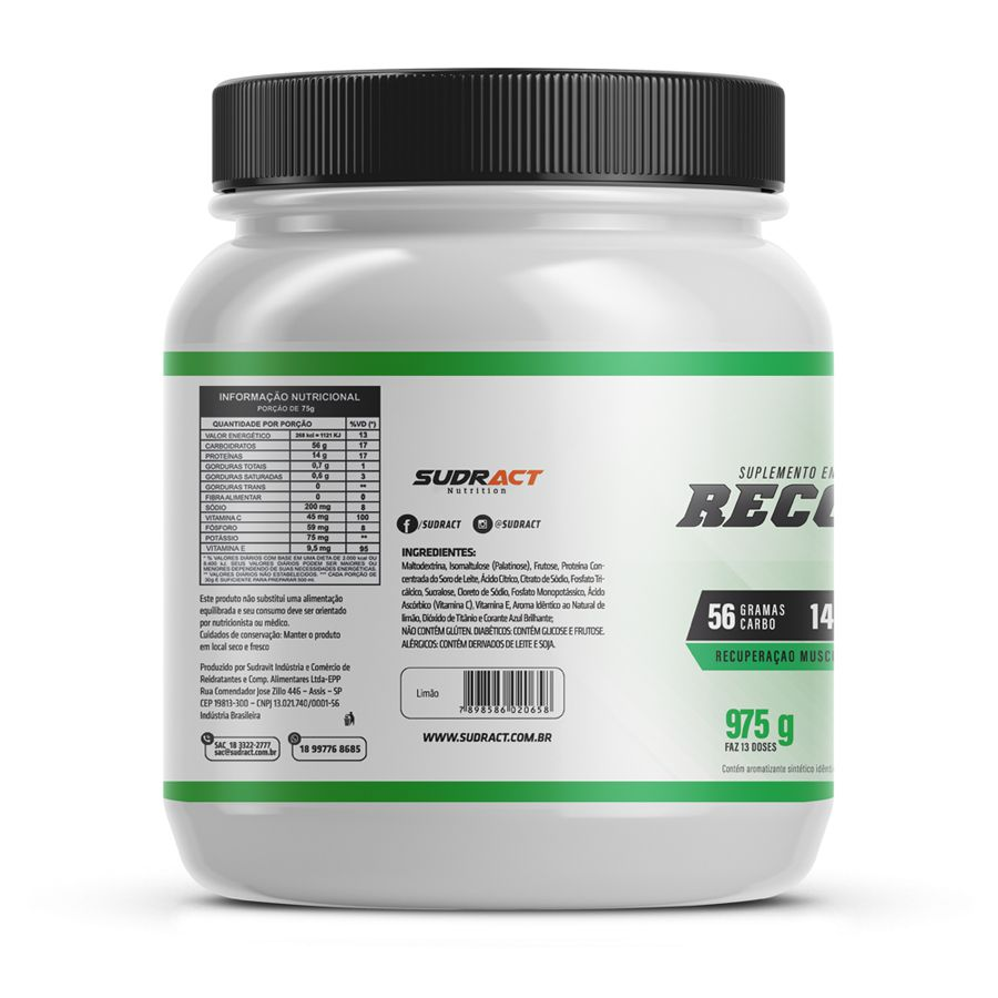 Kit 3 potes Recovery X 4:1 975g - Sudract Nutrition