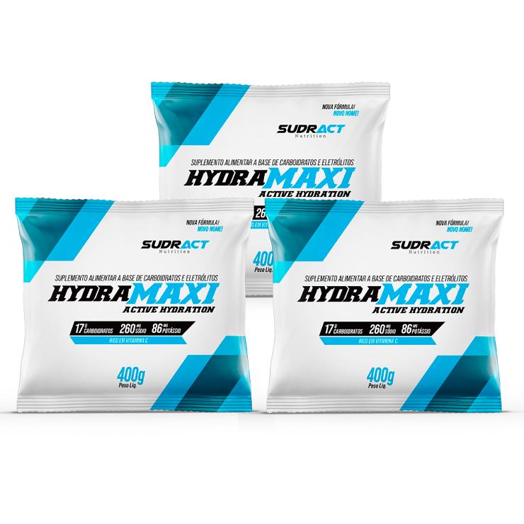 Kit 3 Sachês Hydramaxi - 400g Cada - Sudract Nutrition