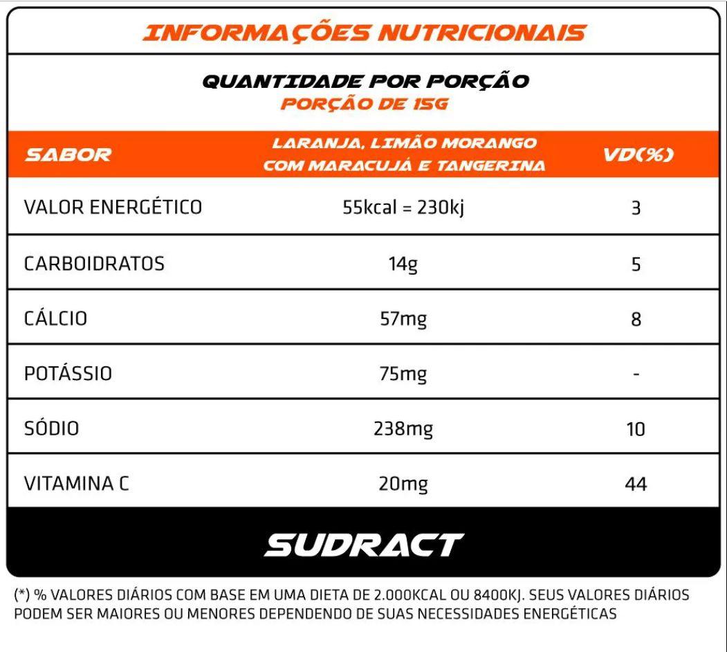 Kit 6 pouch Isotônico em Pó Isotonic 300g - Sudract Nutrition