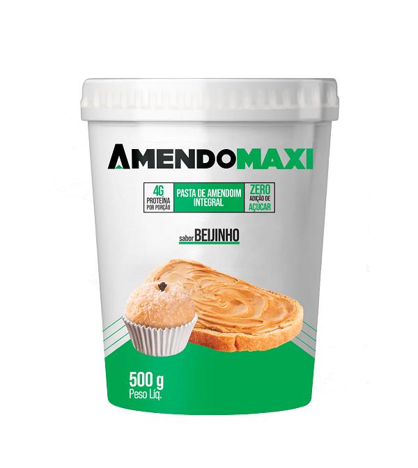 Pasta de Amendoim Beijinho 500g  AmendoMaxi