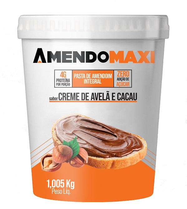 Pasta de Amendoim Creme de Avelã e Cacau 1kg  AmendoMaxi