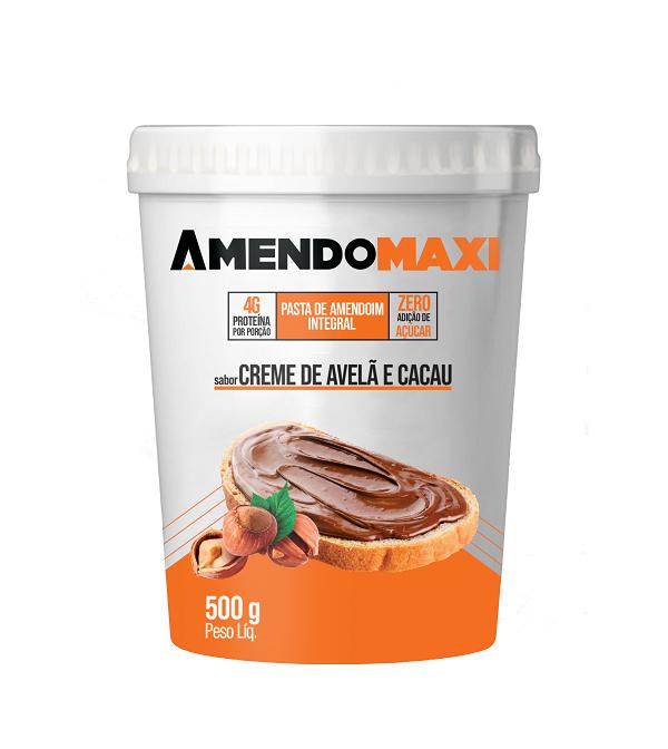 Pasta de Amendoim Creme de Avelã e Cacau 500g  AmendoMaxi