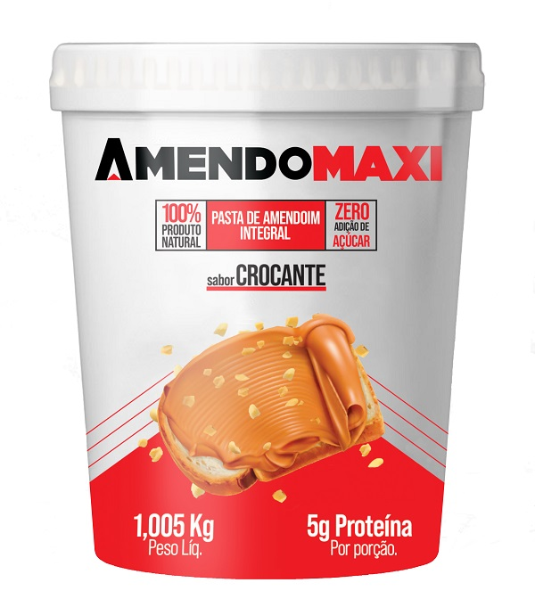 Pasta de Amendoim Crocante 1kg  AmendoMaxi
