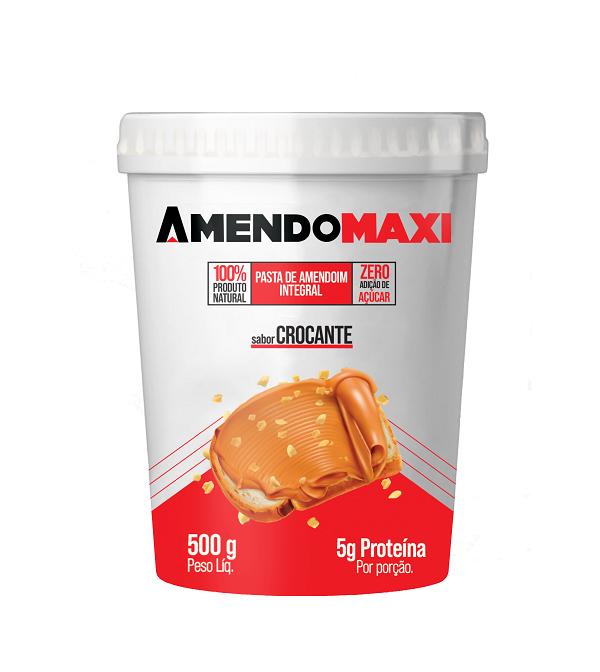 Pasta de Amendoim Crocante 500g  AmendoMaxi