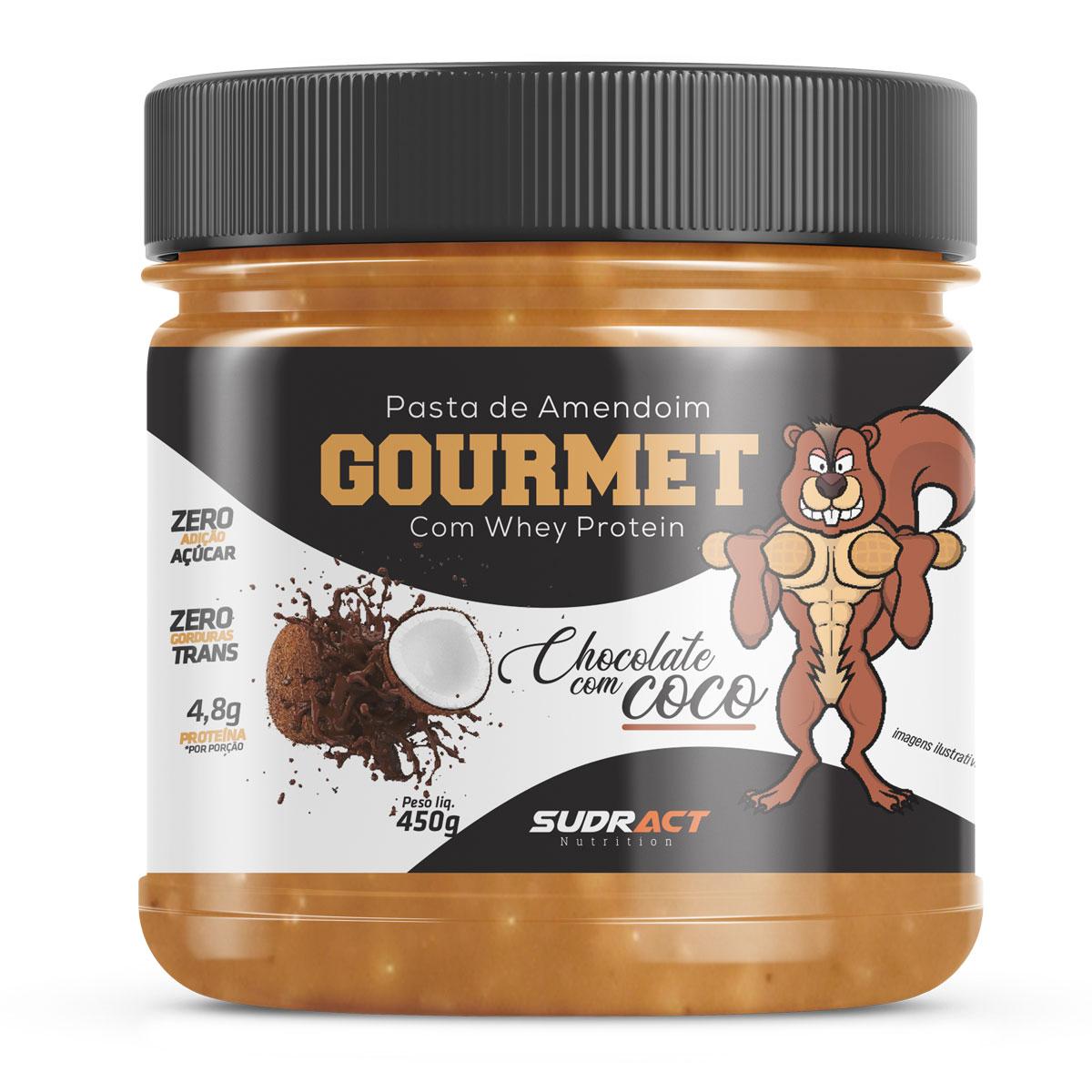 Pasta de Amendoim Gourmet com Whey Protein - Zero Açúcar