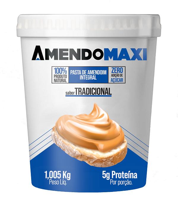 Pasta de Amendoim Tradicional 1kg  AmendoMaxi