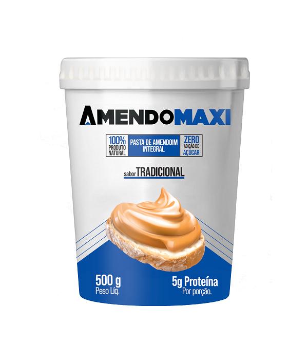 Pasta de Amendoim Tradicional 500g  AmendoMaxi